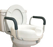 DMI Raised Toilet Seat with Arms - V109010