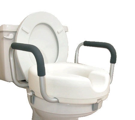 DMI Raised Toilet Seat With Arms V109010 QVCcom