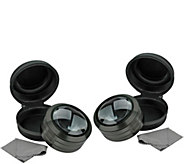 5X Magnifying Glass with LED Light and Case- Set of 2 - V119711