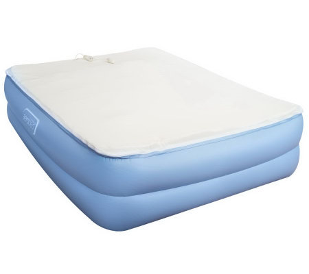 AeroBed Raised Queen Bed with Zip-off Memory Foam Cover