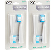 Pop Sonic Set of 4 Brush Heads for PopSonic and GoSonic - V34411