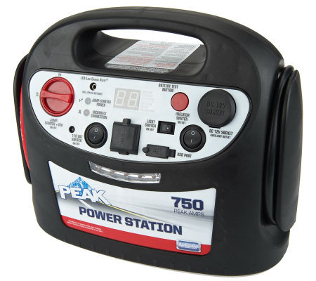 PEAK 750 Peak Amp Jump Starter & Inverter with Inflator