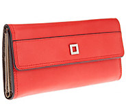 LODIS Clutch Italian Leather Wallet with Built-in RFID Protection - V32812