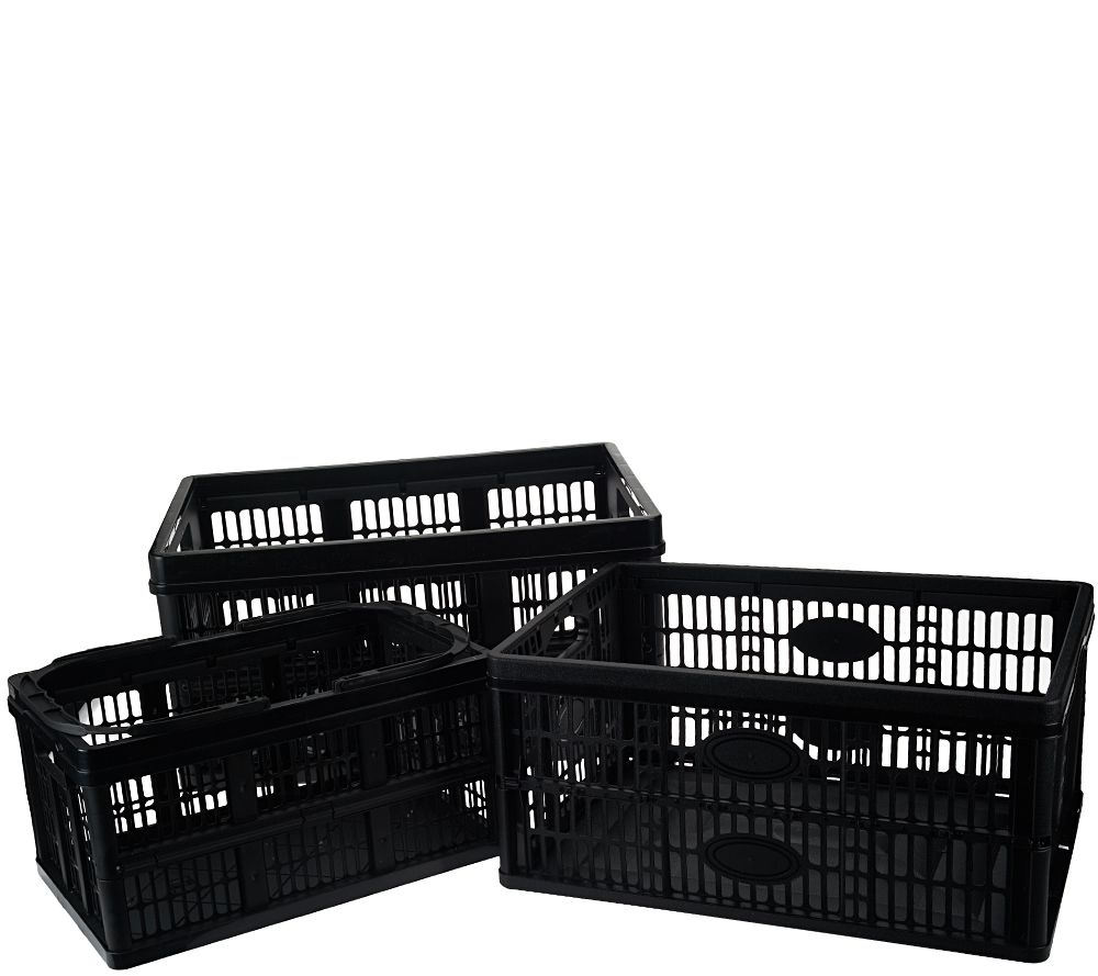 Clever Crates Set of 3 Collapsible Multi-Use Storage Crates