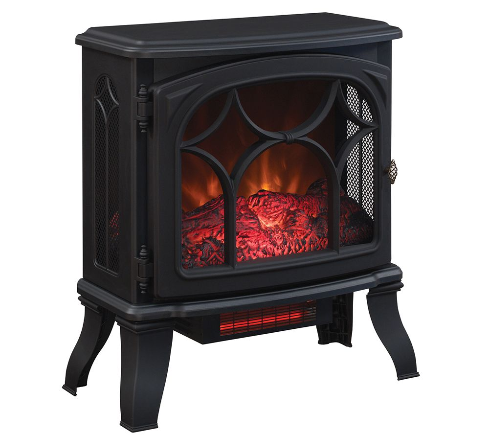 Duraflame 1500W Infrared Quartz Stove Heater w Flame
