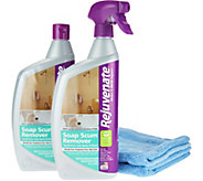 S/2 Rejuvenate Scrub Free Soap Scum Removers w/2 Cleaning Cloths - V34514