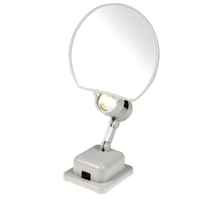 Floxite Lighted 9x Magnifying Mirror With Portable Option