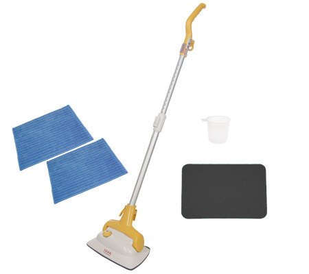 Haan Floor Steam Cleaner and Sanitizer w/ 2 Microfiber Pads