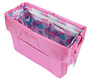 Pursfection Portable Purse Organizer w/ 12 Pockets & Zipper Close - V34316