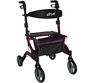 Drive Medical Foldable Lightweight Rollator with Light - V34816