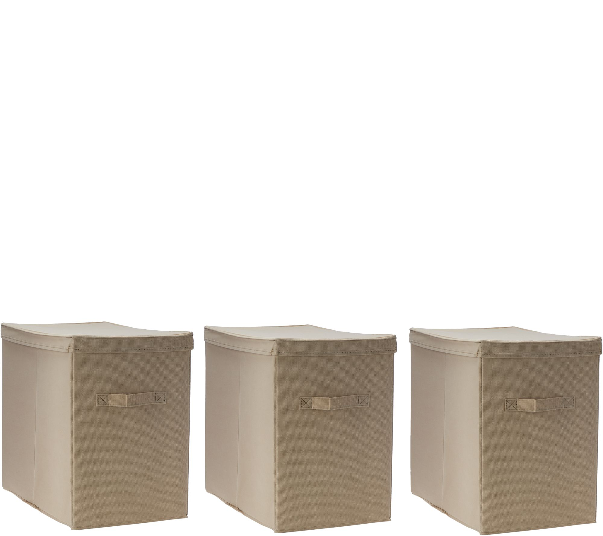 Marvelous Pop It Set Of 3 Collapsible Storage Bins With Lids   Page 1 U2014 QVC.com