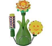 Scrub Daisy Dish Cleaning Soap Wand w/ Vase & Variety Scrub Heads - V34919