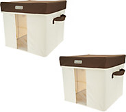 Kano Set of 2 Medium Storage Boxes w/Steel Frame & Window Panel - V34020