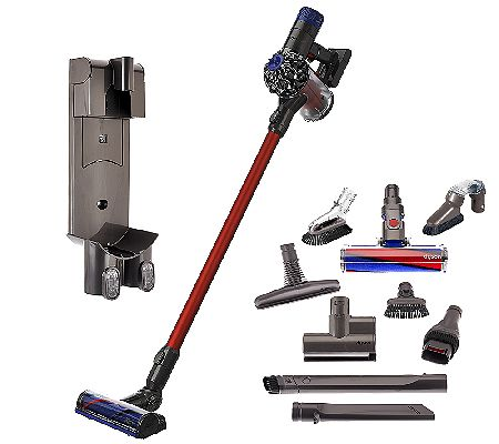 dyson v6 absolute cordless vacuum with 9 attachments 200 off bargain hunting moms. Black Bedroom Furniture Sets. Home Design Ideas