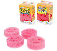 Scrub Daddy Set of 6 Pink Flex Texture Sponge Set - V35122
