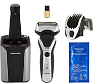 Panasonic Mens 3 Blade Wet / Dry Shaver and Cleaning Station - V34423