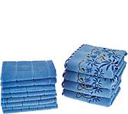 Don Asletts 12 Piece Decorative Microfiber Towel Set - V34723