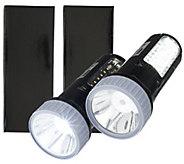 Super Bright Set of 2 LED Multi Position Rechargeable Lantern Lights - V32324