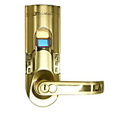 Bio-Matic Fingerprint Door Lock - Goldtone Right - V117426
