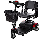 Drive Medical Compact Travel Scooter with Basket and Armrests - V33626