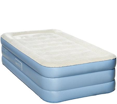 """AeroBed Twin 18"""" Air Mattress w Antimicrobial Sleep"""