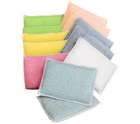 Set of 12 Microfiber Sponges with Diamond Fiber by Campanelli