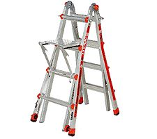 Little Giant 24-in-1 17' Ladder with Work Platform and Wheels