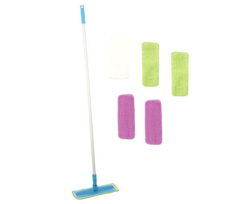 Don Aslett's Super-size Microfiber Mop with 6 Washable Pads