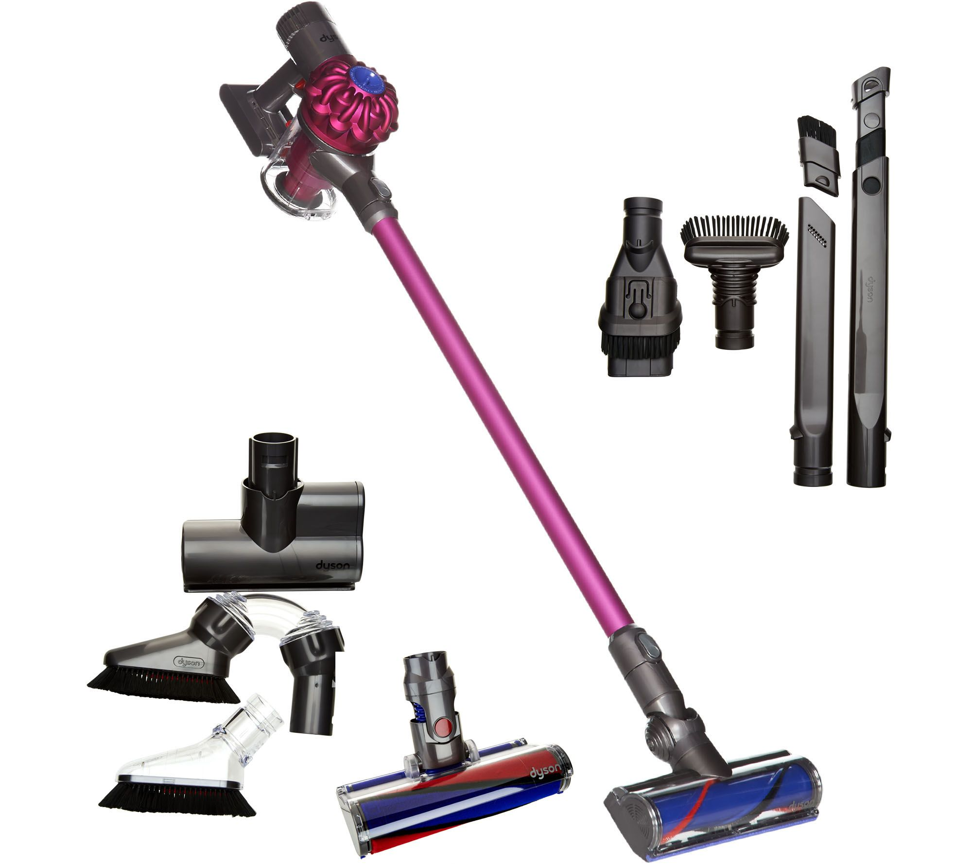 dyson v6 animal pro cordfree vacuum w fluffy head and 7 tools page 1. Black Bedroom Furniture Sets. Home Design Ideas