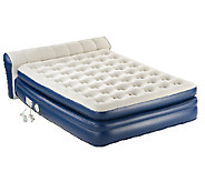 AeroBed Queen Size Elevated Headboard Bed w Built-In Pump - V32434
