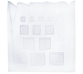 Shower Cubbies 12-Pocket Clear Vinyl Shower Curtain Liner — QVC.