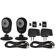 Momentum Set of 2 Home Monitoring Wifi Cameras w/ SD Card - V34535
