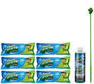 Green Gobbler Set/6 Drain Cleaner Packets & 16oz Refresh Drain Freshener - V33936