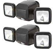 Mr Beams S/2 600 Lumen Dual-Head Motion Sensor Security Lights - V35336