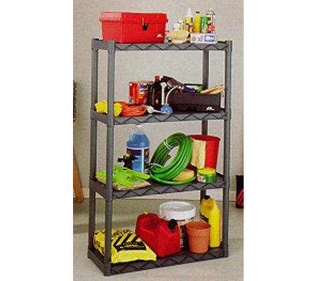 Plano 904 Durashelf Plastic Shelving Unit 4 Shelves