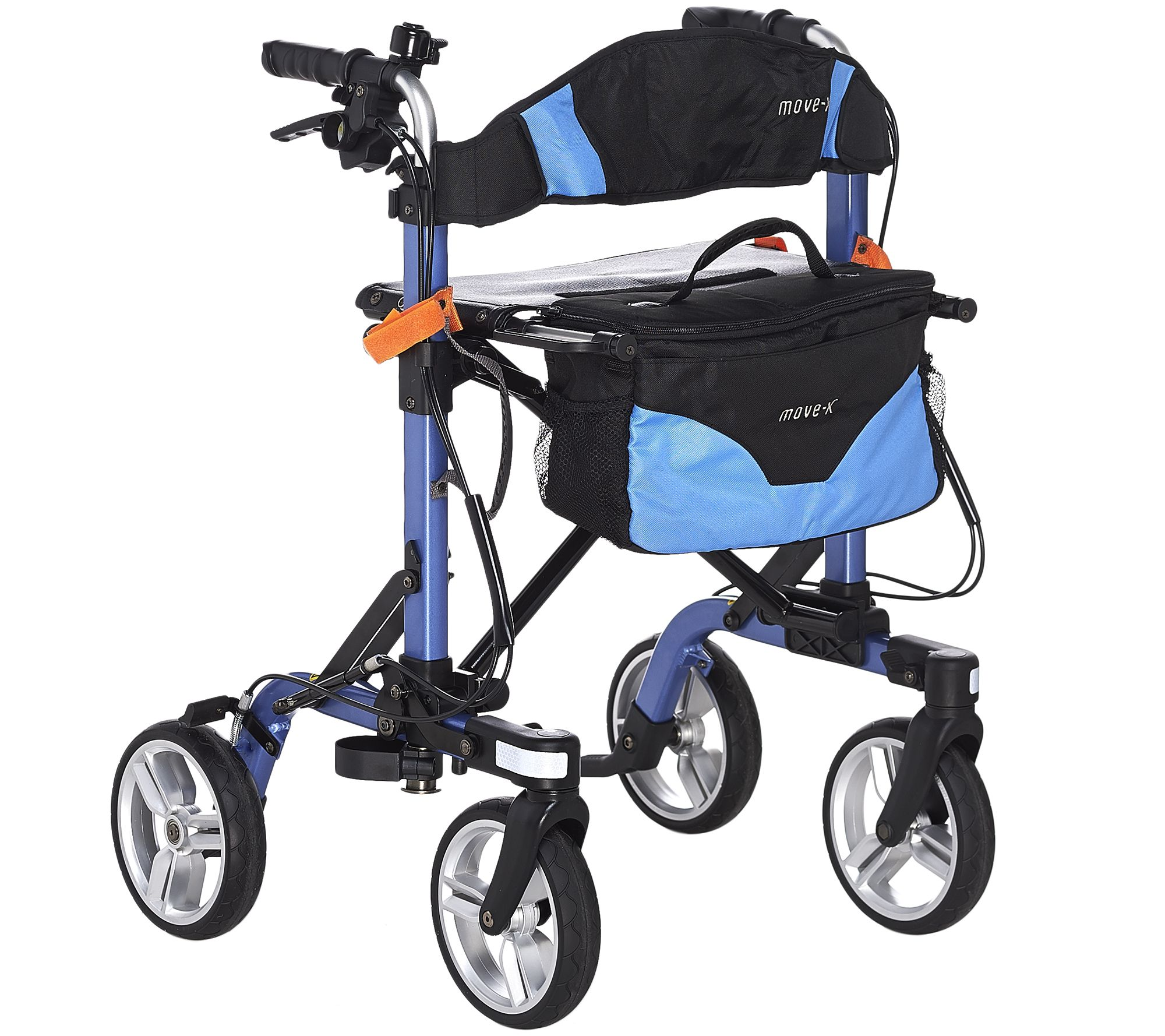 EV Rider Foldable Lightweight Rollator with Bag - Page 1 — QVC.com