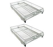 Pop-It Set of 2 Adjustable Sliding Cabinet Organizers - V34237
