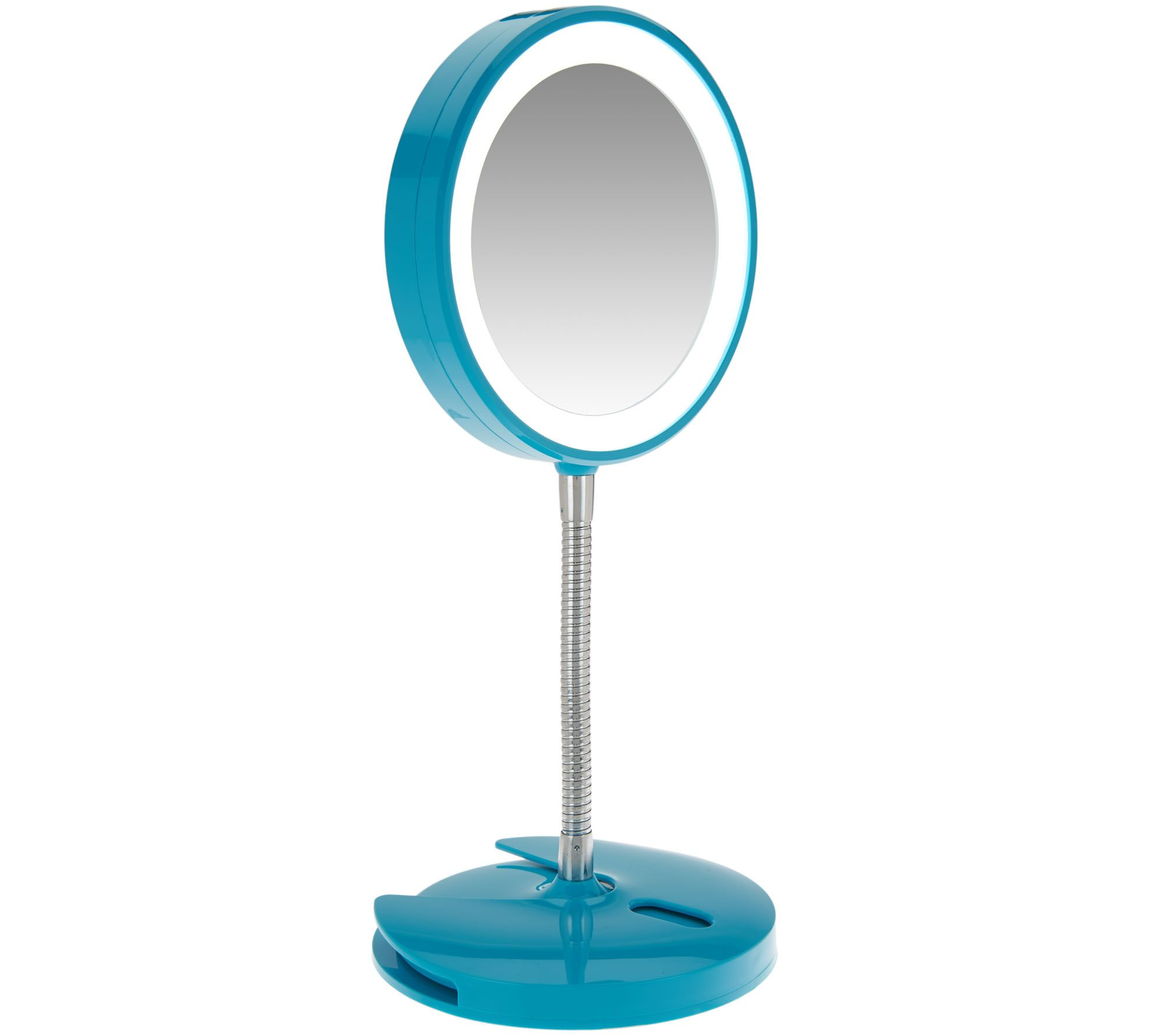 Conair 5x magnification led mirror with wall mount page 1 qvc amipublicfo Images