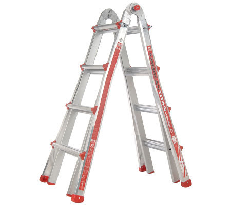 Little Giant 24-in-1 Multi-Function 17' Ladder with Leg Leveler