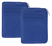 ID Stronghold Set of 2 Mini Wallets with RFID Protection - V33439