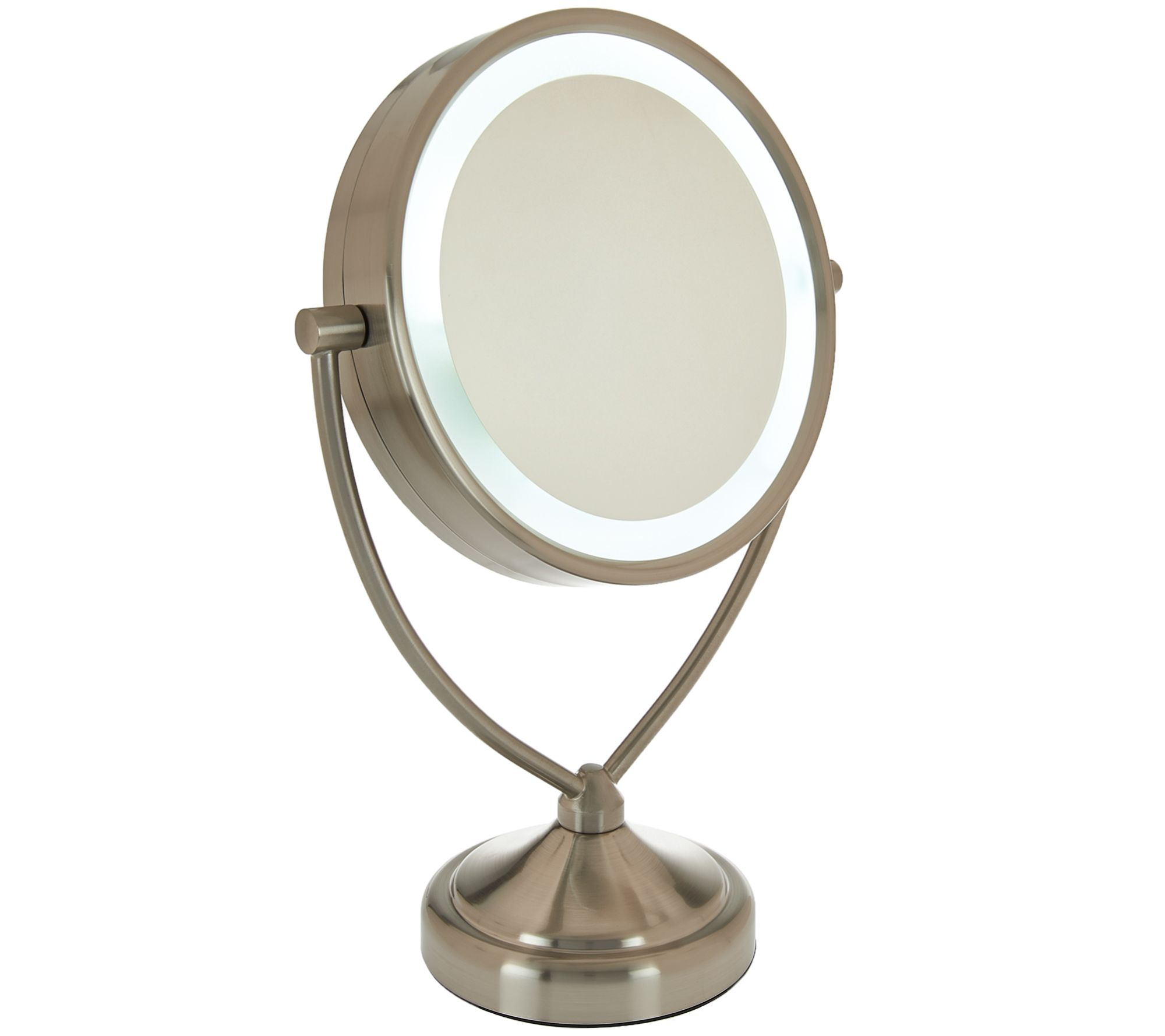 Conair 10x1x magnification lighted mirror page 1 qvc mozeypictures Image collections