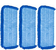QuickMop Set of 3 3-in-1 Replacement Microfiber Pads - V34741