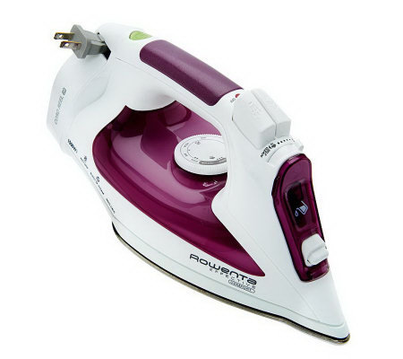 Rowenta 1500W Steam Iron with Cord Reel and Microsteam Soleplate