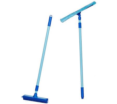 Don Aslett S Rubber Broom Amp Microfiber Mop Set W 3