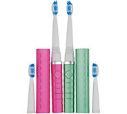 Pop Sonic Set of 2 USB Travel Sonic Toothbrushes - V34543