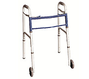 Carex Classics Dual Button EZ-Fold Walker withWheels - V119647