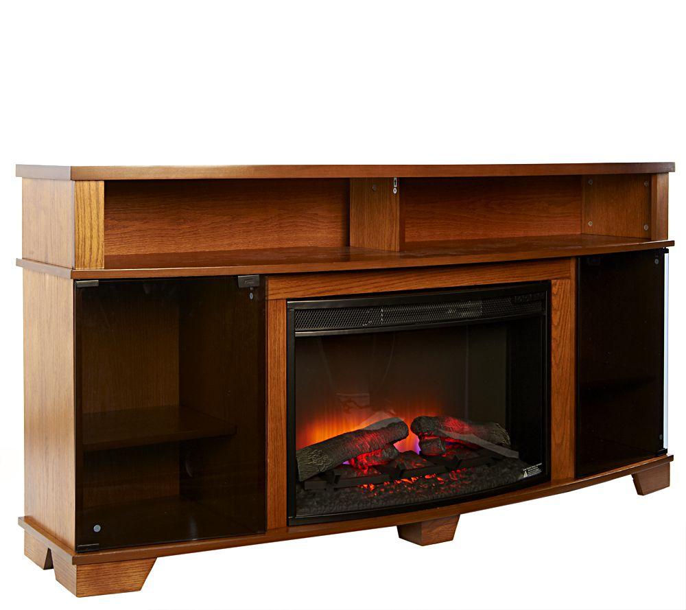 duraflame parker infrared quartz electric fireplace page 1 u2014 qvc com