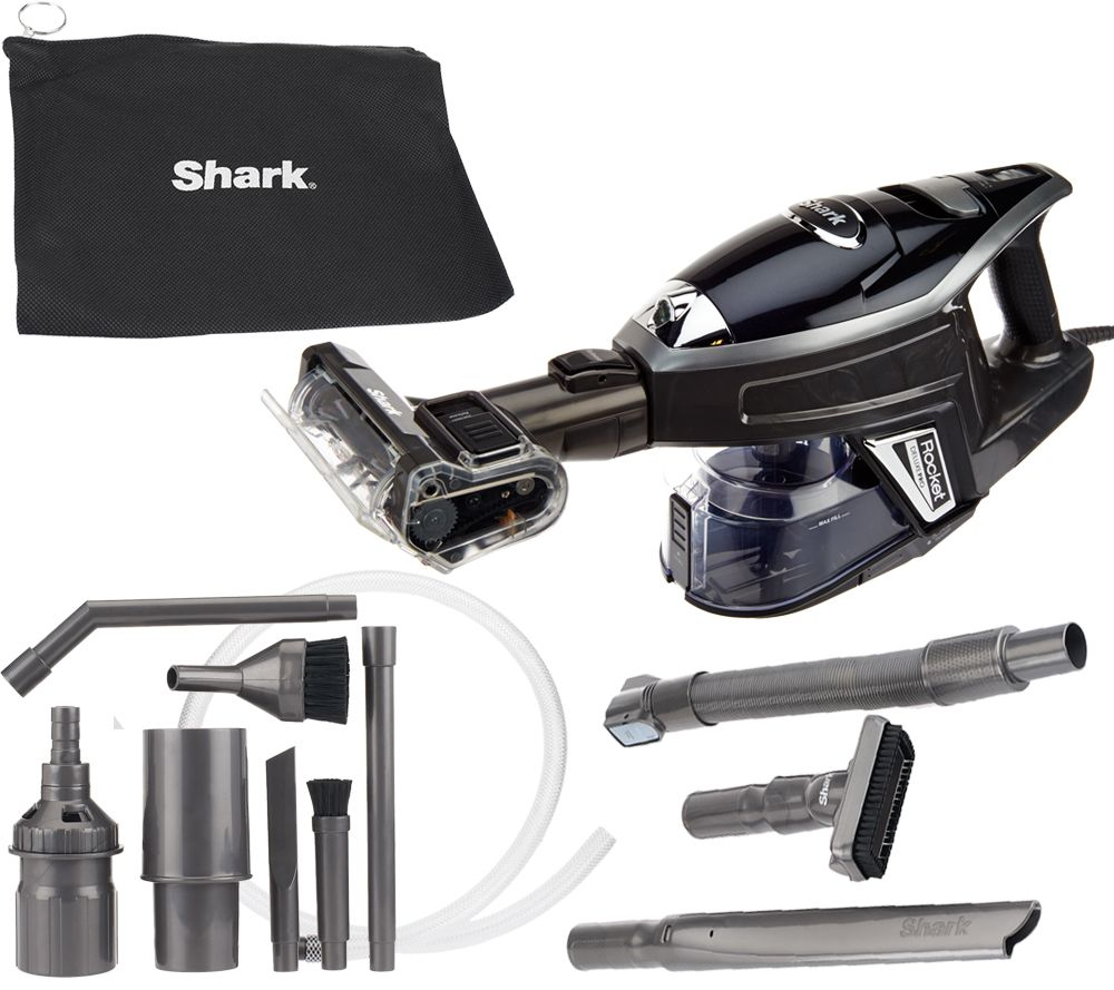 shark rocket deluxe pro ultralight handheld vacuum w attachments page 1 u2014 qvccom