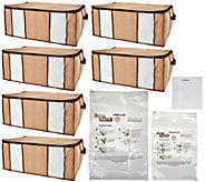 SuperPack 6 Jumbo Totes w/ Compression Bags Plus 2 Bag Bonus - V34747