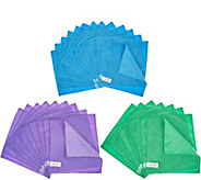 Don Asletts Supersize 50 pc Dual Side Microfiber Cleaning Cloths - V35447